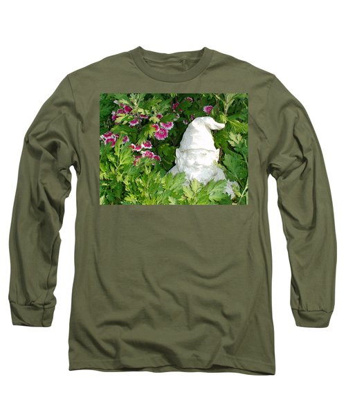 Long Sleeve T-Shirt featuring the photograph Garden Gnome by Charles Kraus