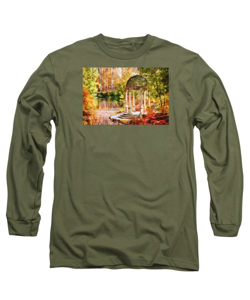 Long Sleeve T-Shirt featuring the photograph Garden Of Beauty by Trina  Ansel
