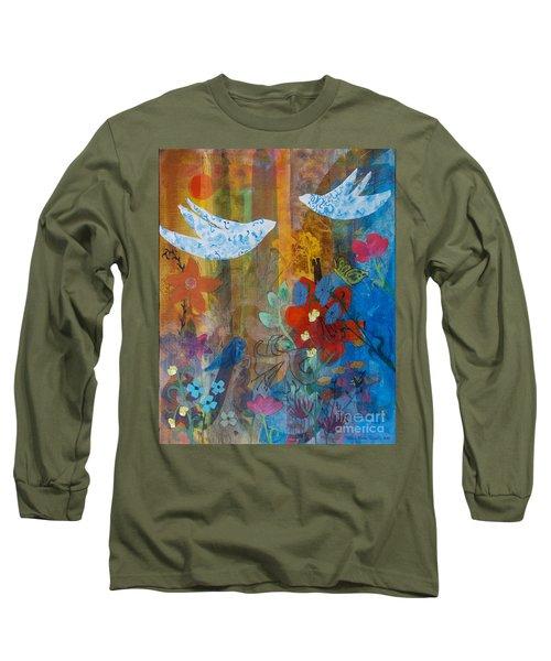 Garden Of Love Long Sleeve T-Shirt by Robin Maria Pedrero