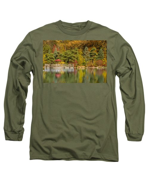 Long Sleeve T-Shirt featuring the photograph Garden Of Reflection by Sebastian Musial