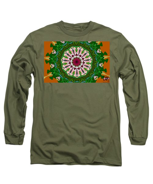 Long Sleeve T-Shirt featuring the digital art Garden Party #2 by Elizabeth McTaggart