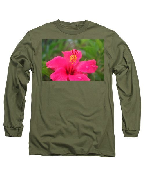 Long Sleeve T-Shirt featuring the photograph Garden Rains by Miguel Winterpacht