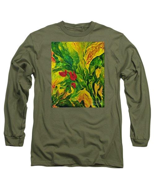 Garden Series No.2 Long Sleeve T-Shirt by Teresa Wegrzyn