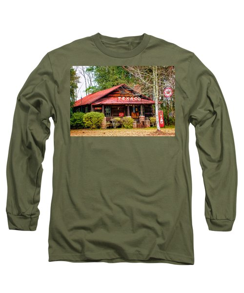 Long Sleeve T-Shirt featuring the photograph Gas Station 1 by Dawn Eshelman