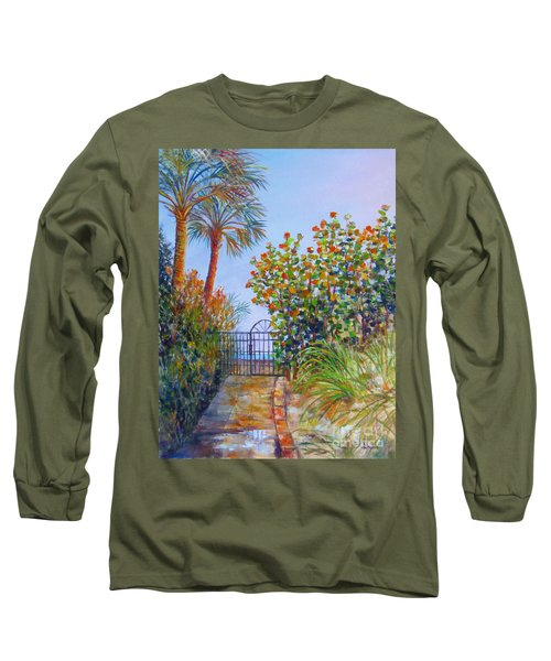 Long Sleeve T-Shirt featuring the painting Gateway To Paradise by Lou Ann Bagnall
