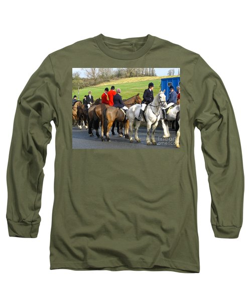Gathering For The Hunt Long Sleeve T-Shirt by Suzanne Oesterling