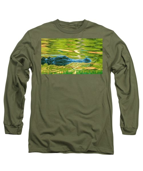 Gator In Pond Long Sleeve T-Shirt