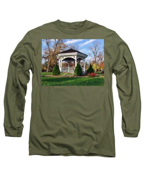 Gazebo At Olmsted Falls - 1 Long Sleeve T-Shirt