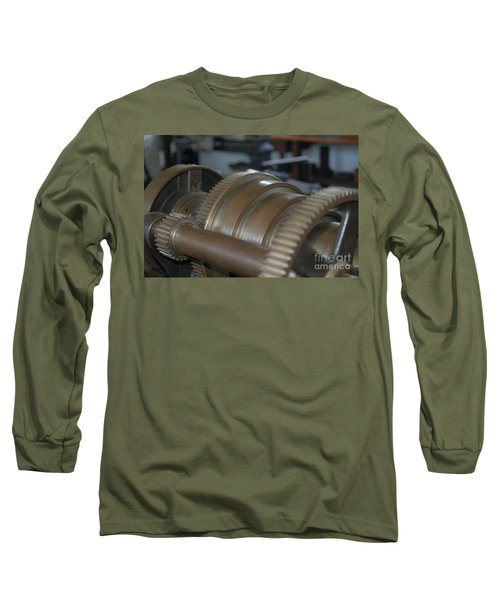 Gears Of Progress Long Sleeve T-Shirt by Patrick Shupert