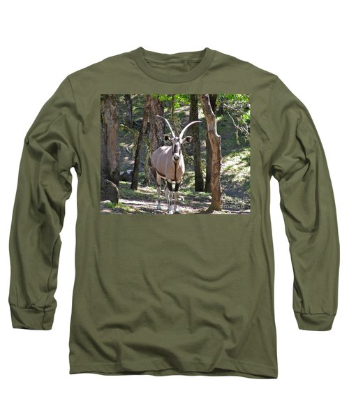 Gemsbok In The Woods Long Sleeve T-Shirt by CML Brown
