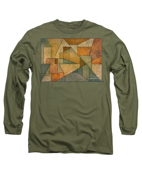 Geometric Abstraction Iv Long Sleeve T-Shirt