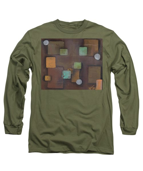'geometric' Long Sleeve T-Shirt