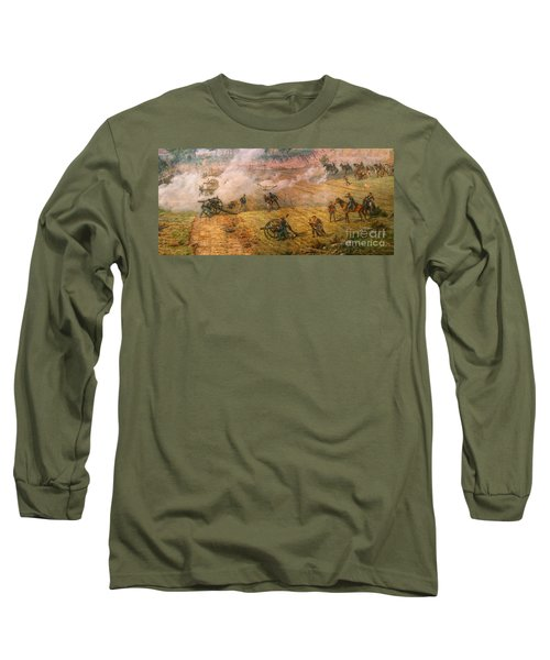 Long Sleeve T-Shirt featuring the digital art Gettysburg Cyclorama Detail One by Randy Steele