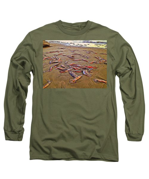 Long Sleeve T-Shirt featuring the photograph Giant Squid Capitola Beach by Antonia Citrino