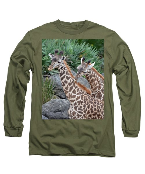 Giraffe Massage Long Sleeve T-Shirt by Richard Bryce and Family