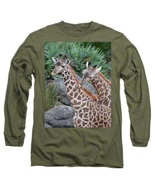 Giraffe Massage Long Sleeve T-Shirt