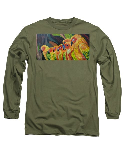 Long Sleeve T-Shirt featuring the painting Girl Watching by Julie Brugh Riffey