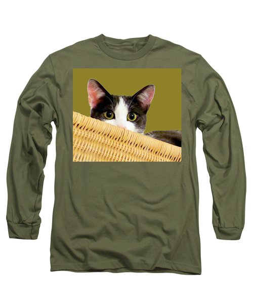 Long Sleeve T-Shirt featuring the photograph Girlie Cat  by Janette Boyd