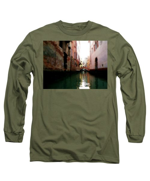 Gliding Along The Canal  Long Sleeve T-Shirt by Micki Findlay