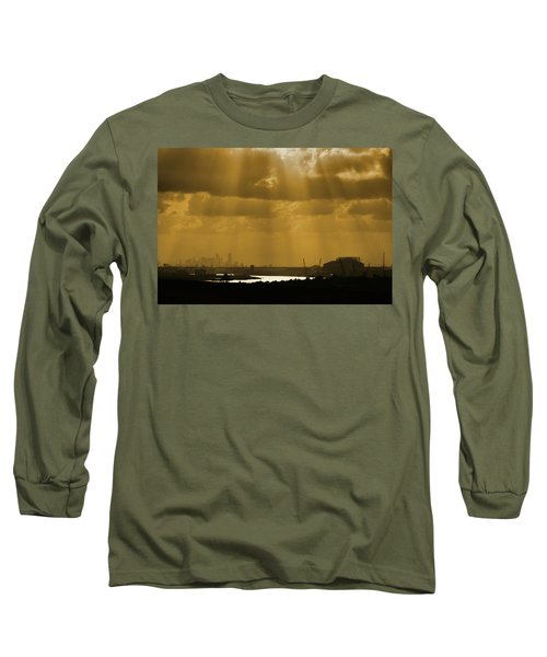 Golden Light Long Sleeve T-Shirt by Linda Unger