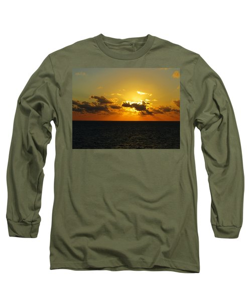 Long Sleeve T-Shirt featuring the photograph Golden Rays Sunset by Jennifer Wheatley Wolf