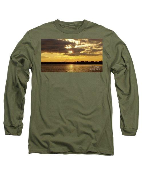 Golden Sunset Long Sleeve T-Shirt by John Telfer