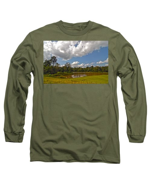 Long Sleeve T-Shirt featuring the photograph Golf Course Landscape by Alex Grichenko