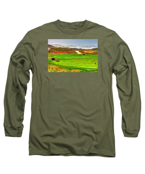 Long Sleeve T-Shirt featuring the photograph Golf Tee At Spyglass Hill by Jim Carrell
