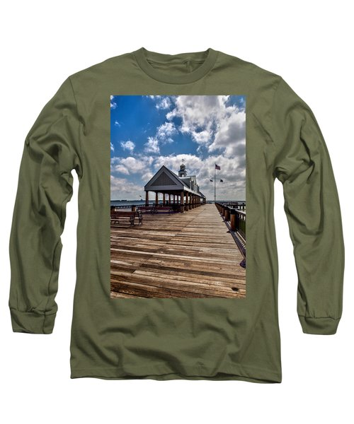 Long Sleeve T-Shirt featuring the photograph Gone Fishing by Sennie Pierson