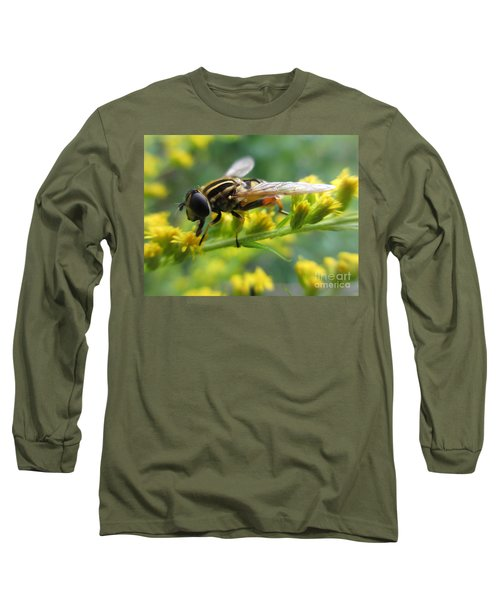 Good Guy Hoverfly  Long Sleeve T-Shirt by Martin Howard