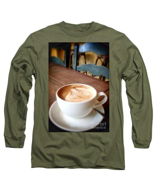 Good Morning Latte Long Sleeve T-Shirt by Susan Garren