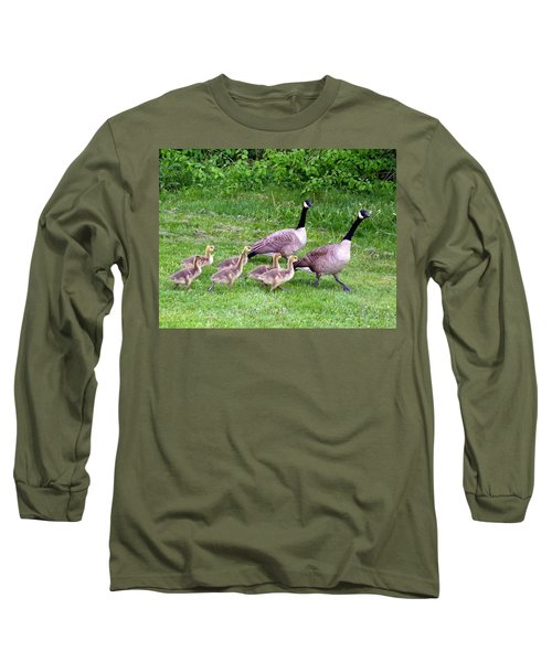 Goose Step Long Sleeve T-Shirt by Will Borden