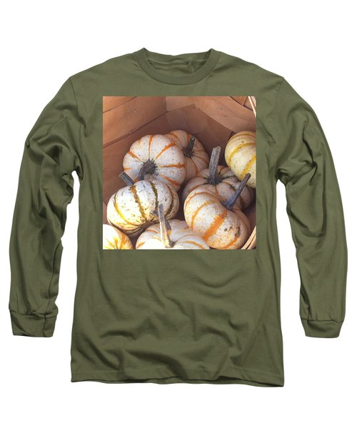 Long Sleeve T-Shirt featuring the photograph Gourd Harvest by Denyse Duhaime