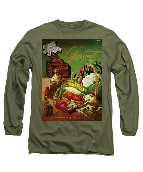 Gourmet Cover Featuring A Variety Of Vegetables Long Sleeve T-Shirt by Henry Stahlhut