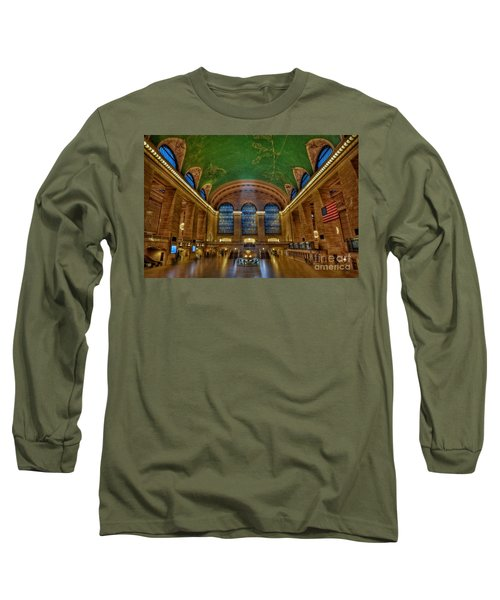 Long Sleeve T-Shirt featuring the photograph Grand Central Station by Susan Candelario