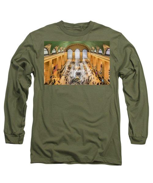 Grand Central Terminal Birds Eye View I Long Sleeve T-Shirt