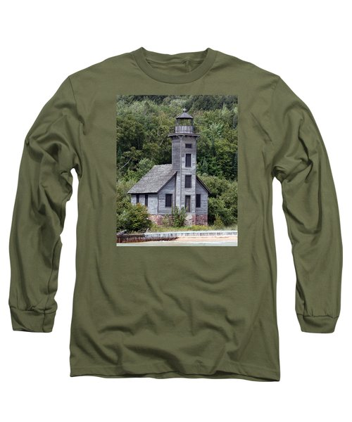 Grand Island East Channel Lighthouse Long Sleeve T-Shirt by George Jones