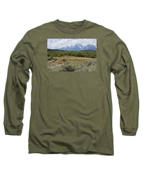 Long Sleeve T-Shirt featuring the photograph Grand Tetons From Willow Flats by Belinda Greb