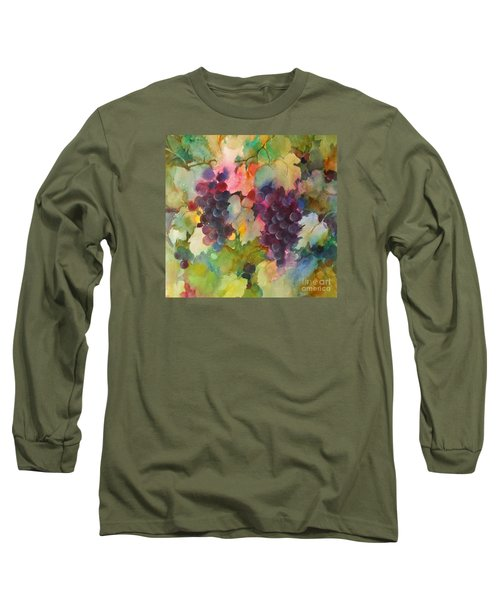 Long Sleeve T-Shirt featuring the painting Grapes In Light by Michelle Abrams