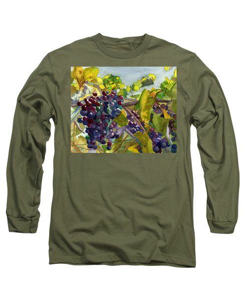 Long Sleeve T-Shirt featuring the painting Grapevines by Lynne Reichhart