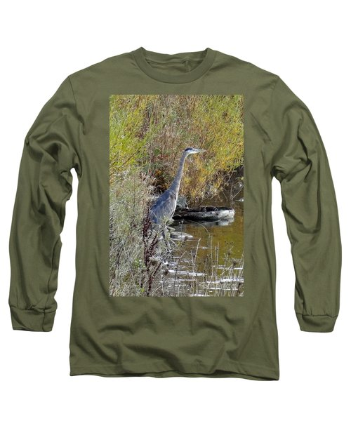 Great Blue Heron - Juvenile Long Sleeve T-Shirt