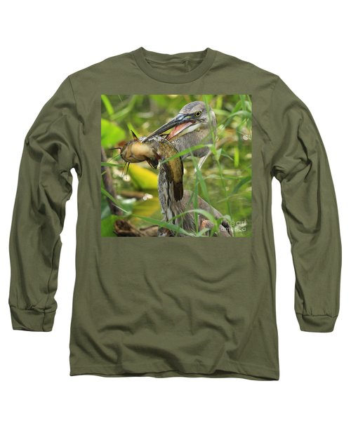 Great Blue Killer Long Sleeve T-Shirt by Adam Jewell