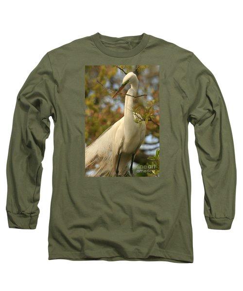 Great Egret Impressions Long Sleeve T-Shirt