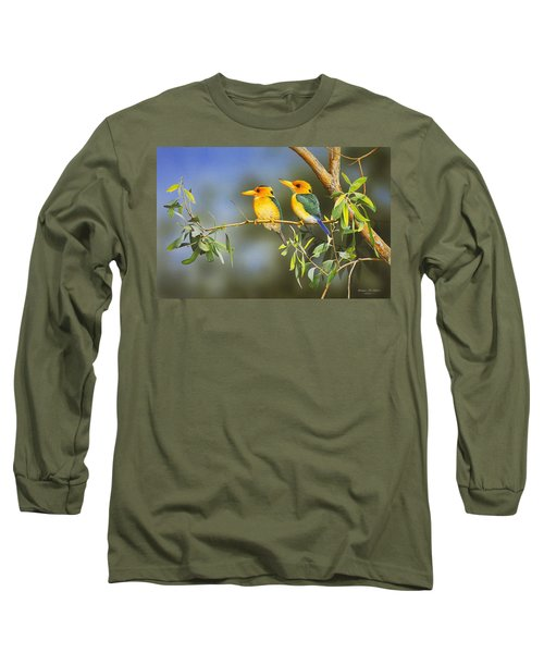 Green And Gold - Yellow-billed Kingfishers Long Sleeve T-Shirt