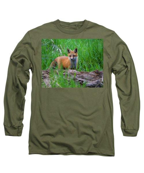 Green As Grass Long Sleeve T-Shirt by Jim Garrison