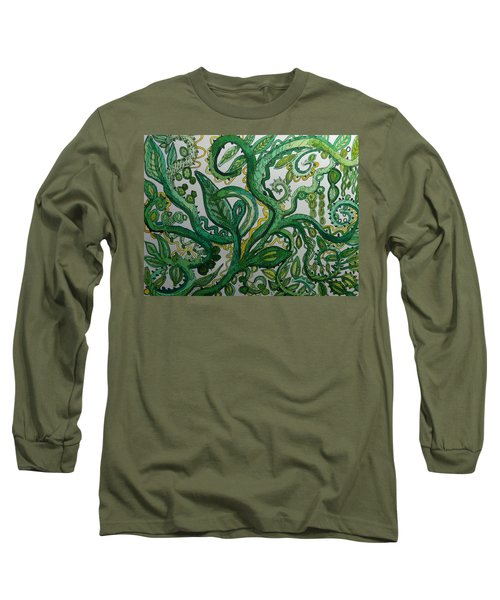 Green Meditation Long Sleeve T-Shirt