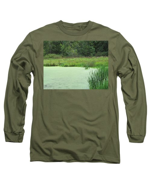 Long Sleeve T-Shirt featuring the photograph Green Moss by Tina M Wenger