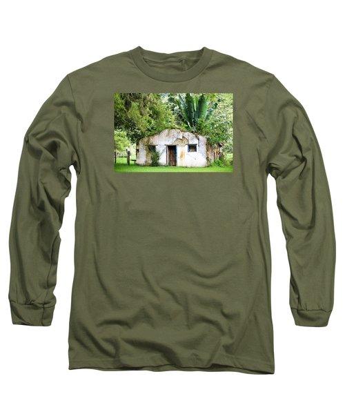 Green Roof Long Sleeve T-Shirt by Menachem Ganon