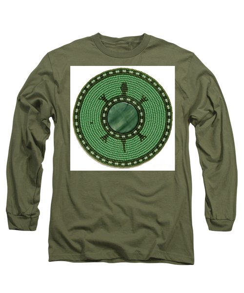 Green Shell Turtle Long Sleeve T-Shirt
