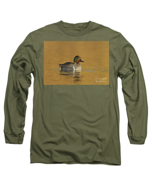 Green Wing Teal Long Sleeve T-Shirt by Bryan Keil
